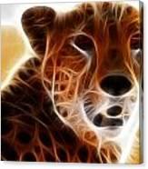 Neon Cheeta Canvas Print