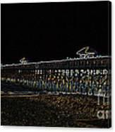 Neoned Pier Canvas Print