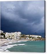 Nerja Beach On Costa Del Sol In Spain Canvas Print