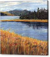 Nestucca River And Bay  Canvas Print