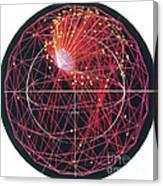 Neutrino Tracks Canvas Print