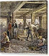 Nevada Silver Mine, C1880 Canvas Print