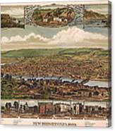 New Brighton Pennsylvania 1883 Canvas Print