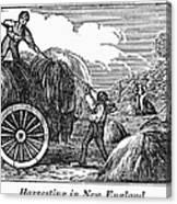 New England: Harvest, 1830 Canvas Print