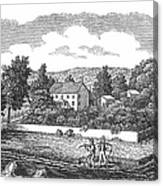 New Jersey Farm, C1810 Canvas Print
