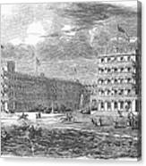 New Jersey Hotel, 1853 Canvas Print