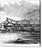 New Jersey: Train Wreck Canvas Print