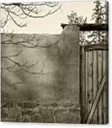 New Mexico Series - Doorway II Black And White Canvas Print