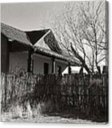New Mexico Series - Fenced In House Canvas Print