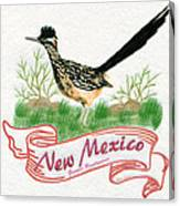 New Mexico State Bird The Greater Roadrunner Canvas Print