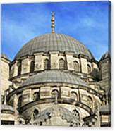 New Mosque Domes In Istanbul Canvas Print