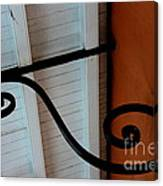 New Oleans White And Orange Canvas Print
