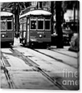 New Orleans Classic Streetcars. Canvas Print