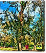 New Orleans Sculpture Park Canvas Print