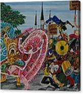 ''new Orleans Secondline'' Canvas Print