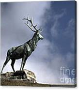 New Orleans Stag Statue Canvas Print