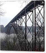 New River Gorge Bridge with Fog Canvas Print