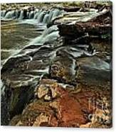 New River Waterfall Canvas Print