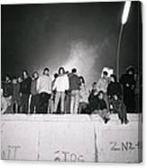 New Year At The Berlin Wall Canvas Print