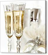New Year Champagne Canvas Print