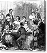 New Years Party, 1857 Canvas Print