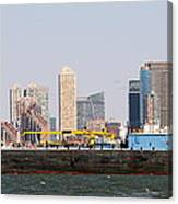 New York And The Barge Canvas Print