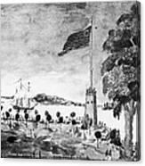 New York: Battery, 1793 Canvas Print