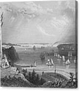 New York Bay, 1838 Canvas Print