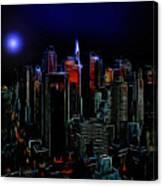 New York By Moonlight Canvas Print