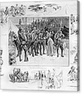 New York: Camp Wikoff, 1898 Canvas Print