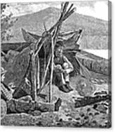 New York: Camping, 1874 Canvas Print