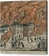 New York City Fire Of September 21-22 Canvas Print