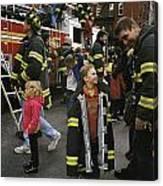 New York City Firefighters Host Canvas Print