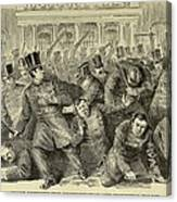 New York City Police Riot Of 1857. Riot Canvas Print