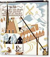 New York City. Poster For Federal Art Canvas Print