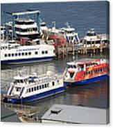 New York City Sightseeing Boats Canvas Print