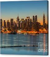 New York City Skyline Morning Twilight IIi Canvas Print
