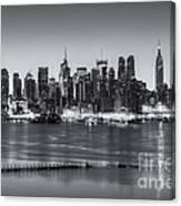 New York City Skyline Morning Twilight Iv Canvas Print