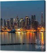 New York City Skyline Morning Twilight Xi Canvas Print