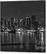 New York City Skyline Morning Twilight Xvi Canvas Print