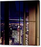 New York City Through A Window Canvas Print