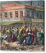 New York: Draft Riots 1863 Canvas Print