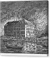 New York: Fire Of 1835 Canvas Print