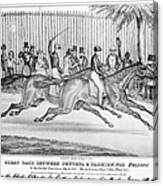 New York: Horse Race, 1845 Canvas Print