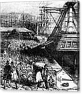 New York: Immigrants, 1854 Canvas Print