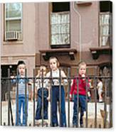 New York Kids 1975 Canvas Print