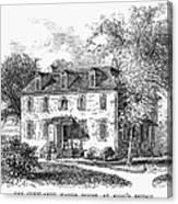 New York Mansion, 1748 Canvas Print