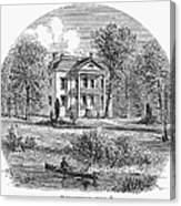 New York: Mansion, 1760 Canvas Print