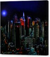 New York Midnight Canvas Print