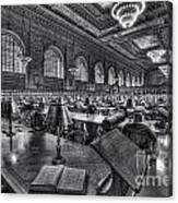 New York Public Library Main Reading Room Vi Canvas Print